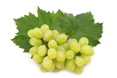 wet grape on white background photo