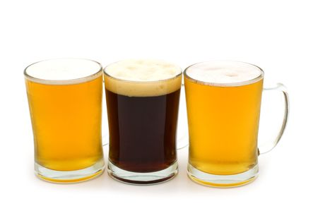 beer assortment on white background Stock Photo - 5050964