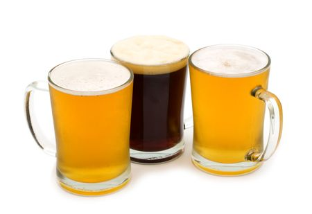 beer assortment on white background Stock Photo - 5050961