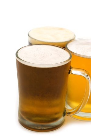 cold beer on white background Stock Photo - 5050970