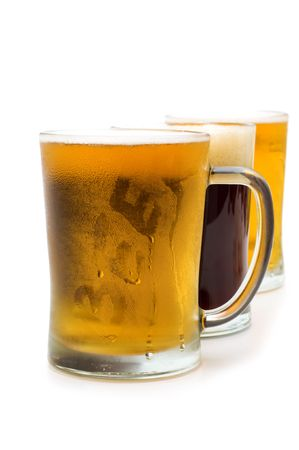 cold beer on white background Stock Photo - 5050966