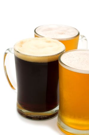beer on white background Stock Photo - 5057472