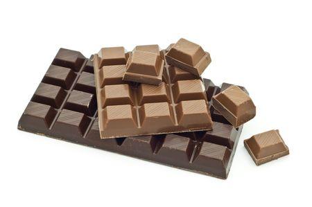 ミルクとダーク チョコレート 写真素材