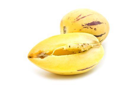 pepino: slice pepino on white background