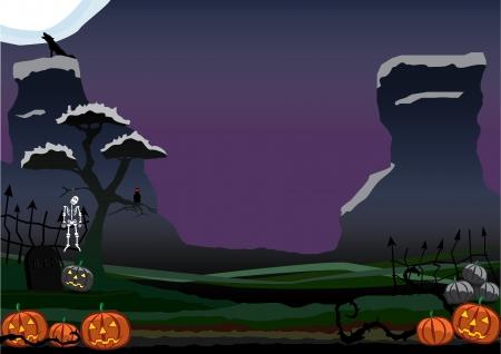 nightime: Halloween Illustration