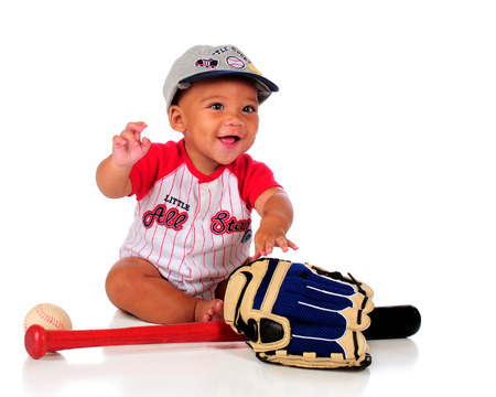Baby Baseball Player Stock Photo - 27085254