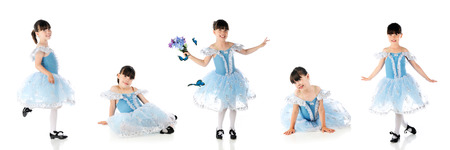 tap dance: Beautiful young tap dancer in five poses Stock Photo