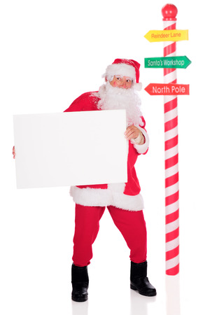 Santa with a Sign photo