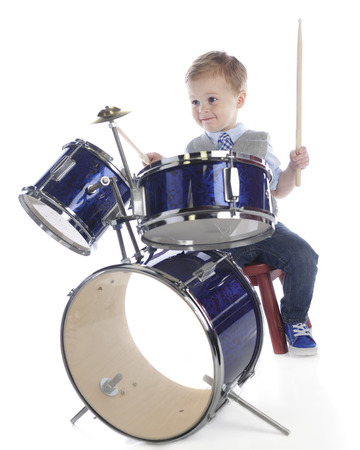 Tiny Drummer Stock Photo