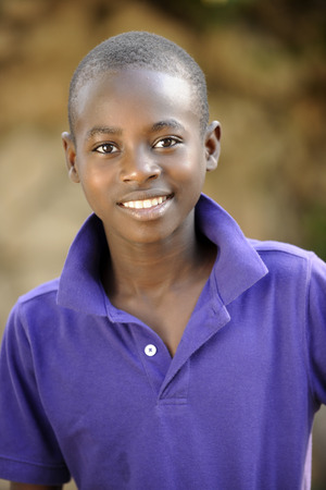 haitian: Close-up of a handsome young Haitian teen.