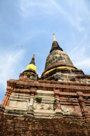 yai: Wat Yai Chai Mongkol di Ayutthaya Thailandia Archivio Fotografico