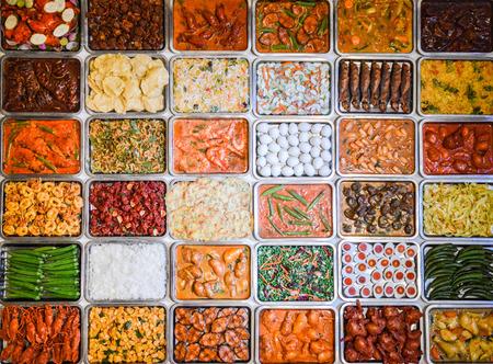 Colección de diferentes alimentos malaya