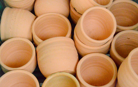 hand made clay pots for cooking