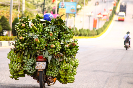 Banana transporter in Asian style Banque d'images - 95452012