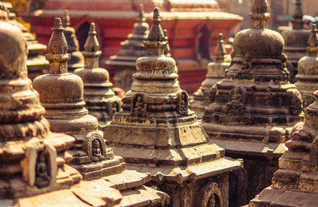 Swayambhunath, one of the oldest proven Buddhist temple Stock Photo