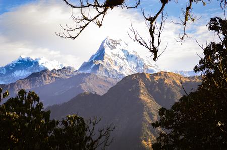 The Annapurna mountain range in the Himalaya mountains