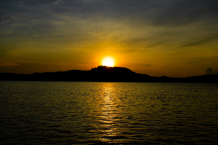 The sunset from the island Koh Sdach