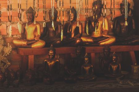 various Buddha statues are sold to tourists Stock Photo