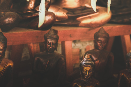 Vvarious Buddha statues are sold to tourists