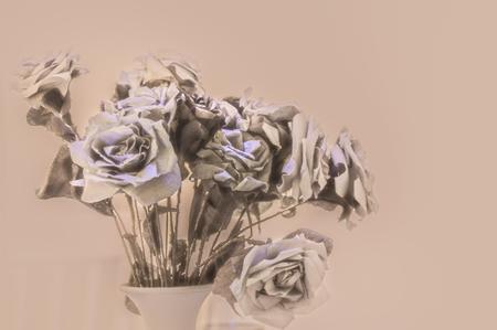 A bouquet of paper flowers as wallpaper Фото со стока