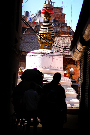 Y stupas built over the capital, Kathmandu, Nepal