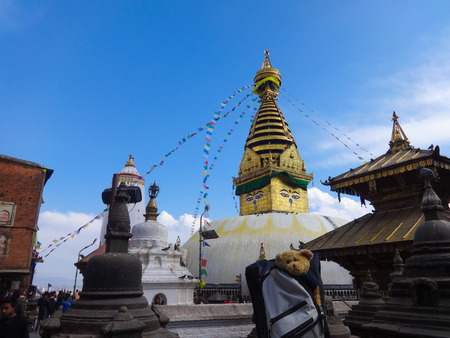Swayambhunath, one of the oldest proven Buddhist temple Stock Photo