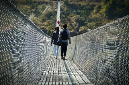 One of the newest and longest suspension bridges in Pokhara. This spans across the Seti River.