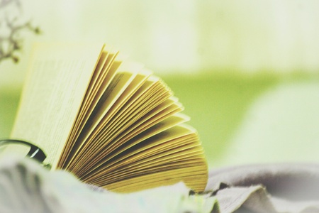 A fanned book waiting to be read further