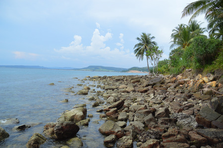 The coastal section on an island off the Cambodian mainland