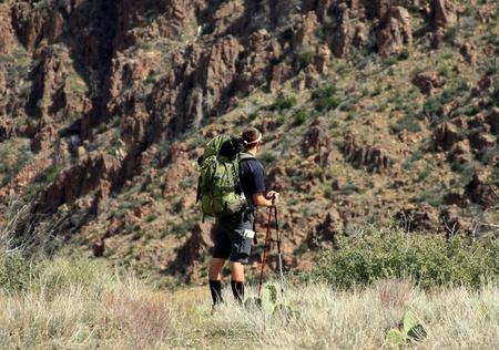 Backpacking Mazatal Mountain, AZ Stock fotó
