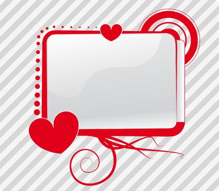 silver frame: Vector of a screen in a love context