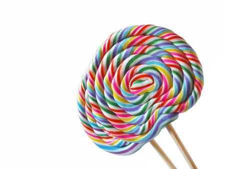 A pair of standing colorful lolly pops Stock Photo - 4758432