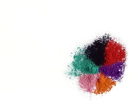 Dust of color chalk in a white background Stock Photo - 4758424