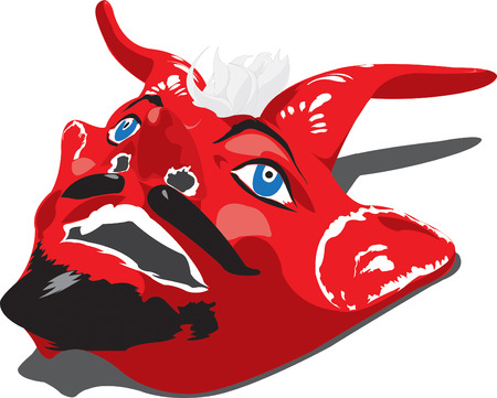 carnival costume: A mexican traditional devil mask