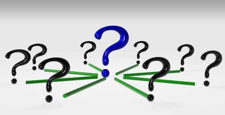 A group of connected questions Stock Photo - 5291661
