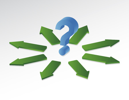 A question with different ways of answer Stock Vector - 5291662