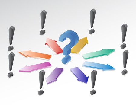 A question with several ideas to answer it Stock Vector - 5291663