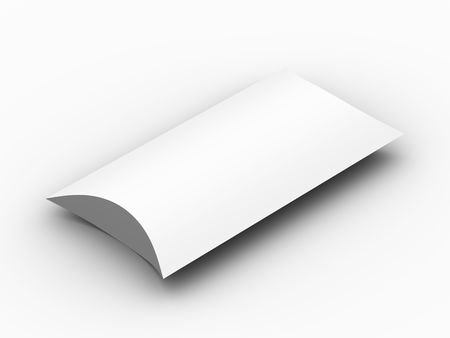 A render of a blank package box photo