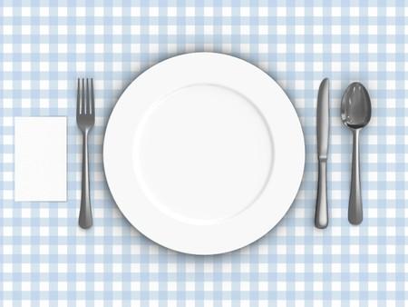 Een weergave van een tabel instellen op een tafel laken