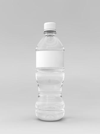 Un rendering di una bottiglia di acqua con etichetta su uno sfondo di Pentecoste Archivio Fotografico - 7342686
