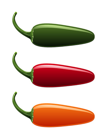 hot peppers: jalapeno pepper colors