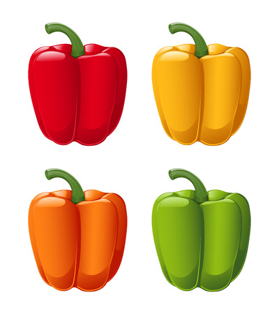 sweet pepper colors Vector