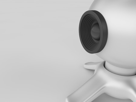 webcamera: A render of a web camera over a white background Stock Photo