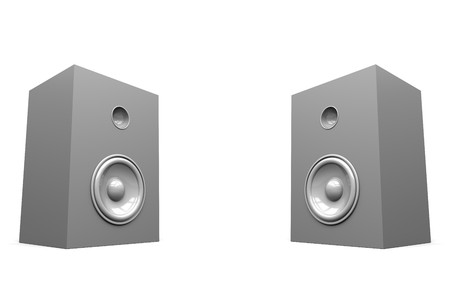 tweeter: A render of a pair of isolated stereo speakers