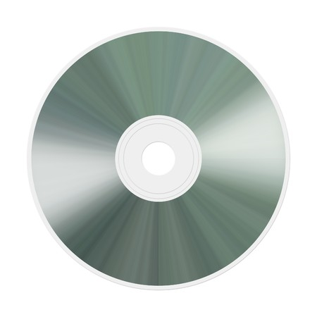 An illustration of an isolated realistic compact disc Stock Photo
