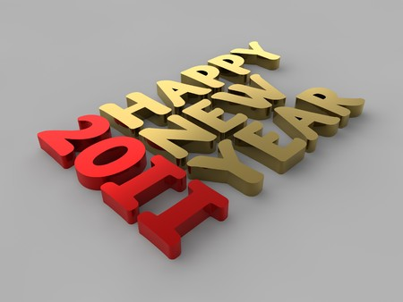 newyear: A render of the words Happy New Year 2011