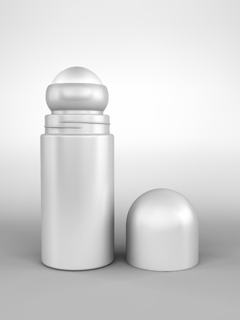 A render of an open roll-on deodorant bottle