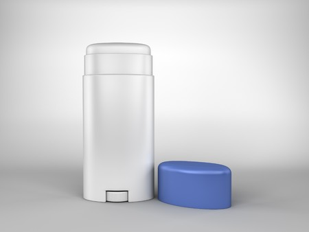 A render of a deodorant bar on white