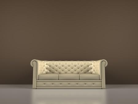 Een weergave van een interieur scène met een sofa