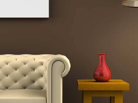 A render of a closeup decoration scene